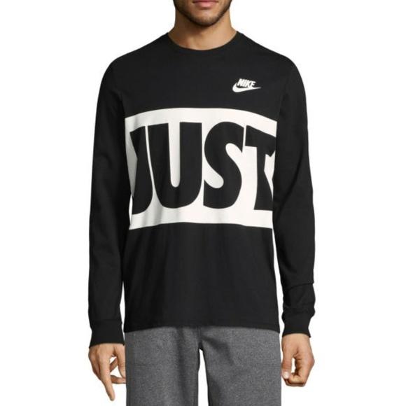 181c9904 Nike Shirts | Mens Graphic Tee Black Long Sleeve Shirt | Poshmark
